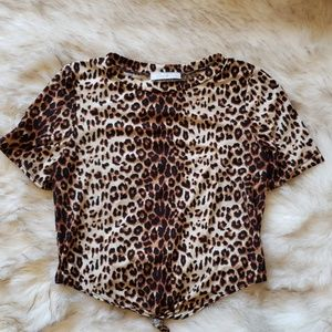 Leopard/Cheetah Print Crop Top 0147